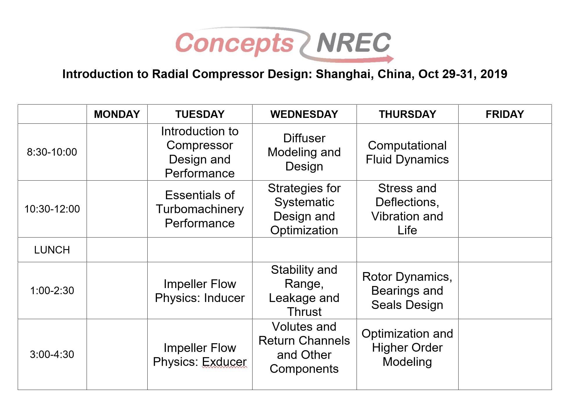 2019 Radial Compressor Course - China