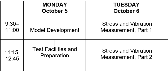 2020 Experimental Course Schedule 2-2