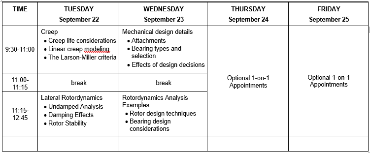 2020 Mechnical Course Schedule 21-1