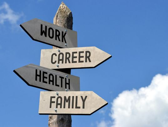 balance between health, work, family career