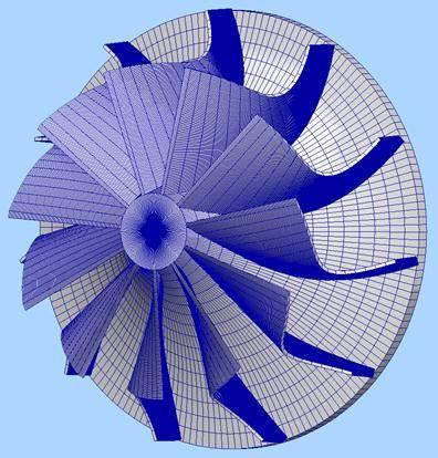 Forward_swept_rotar_turbocharger