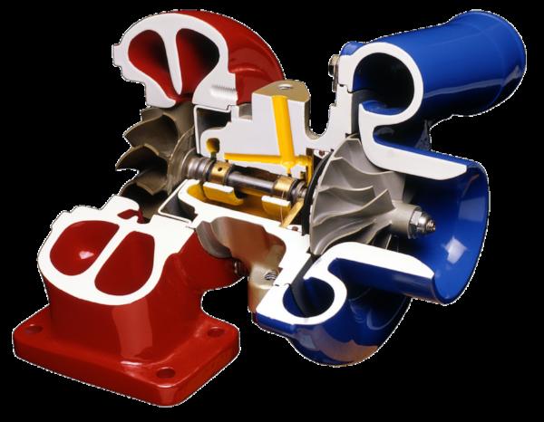 Turbocharger_cutaway
