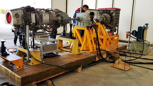 V35 Dynamometer testing helicopter engines