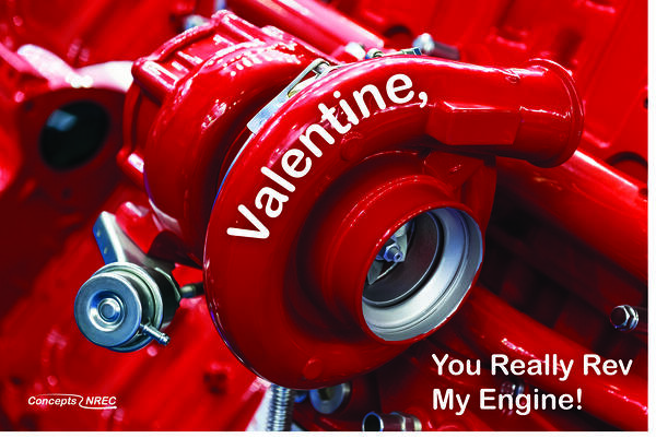 Valentines Day Card_turbocharger themed