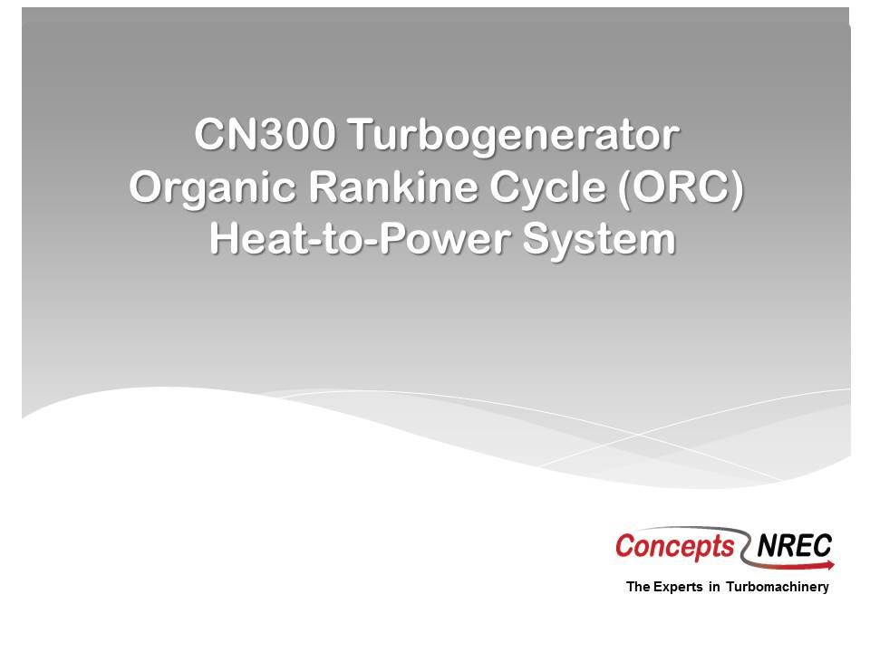 CN300 ORC Turbogenerator Intro