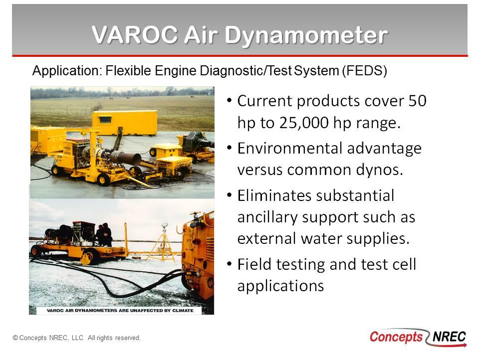 Applications for VAROC Dynamometer